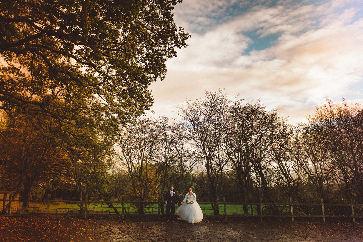 Bride and groom in the outdoor space at West Tower - © Ian MacMichael Photography